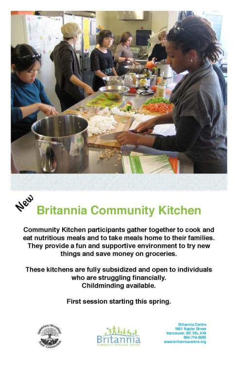 Community Kitchen poster - Tabloid