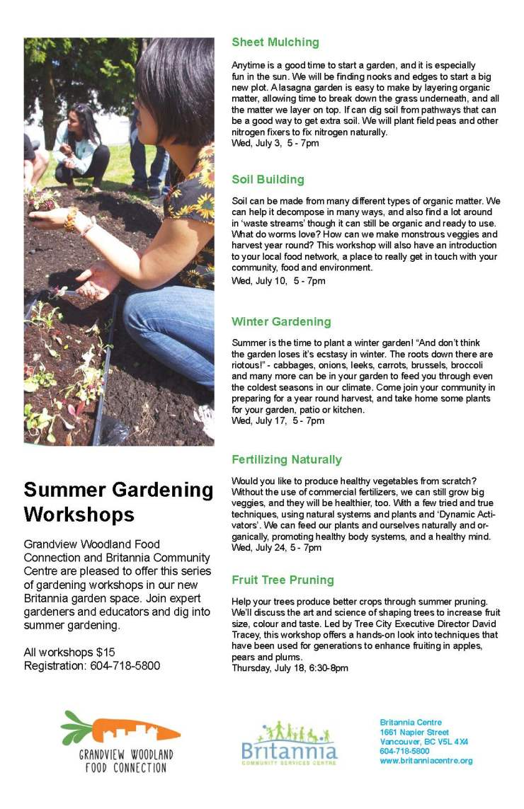 Garden workshops 2013