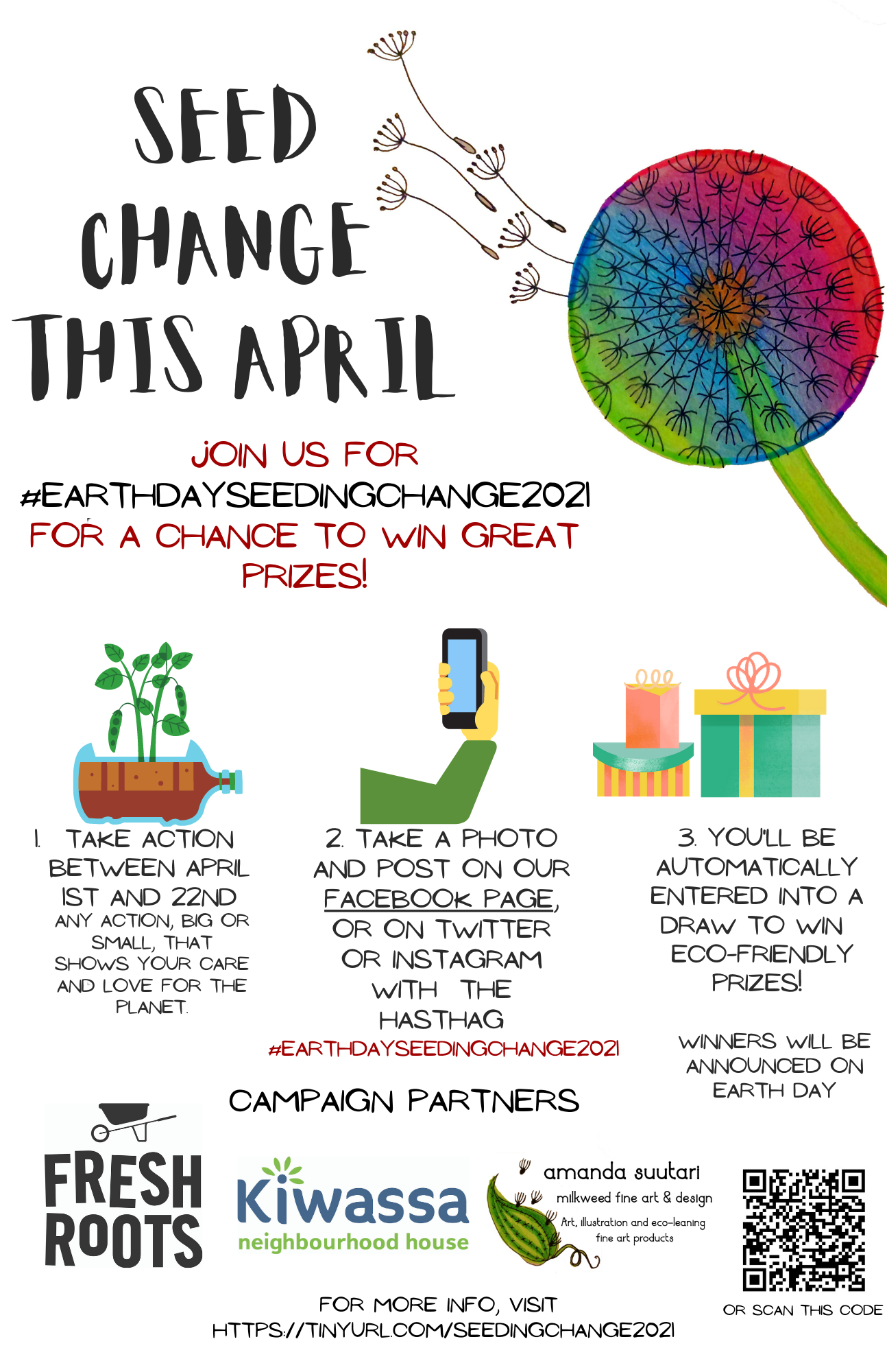 Earth Day Seeding Change Flyer w QR_TinyURL